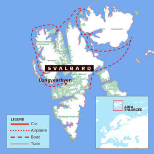 Better Moments - Map_Svalbard-workshop Photography workshop