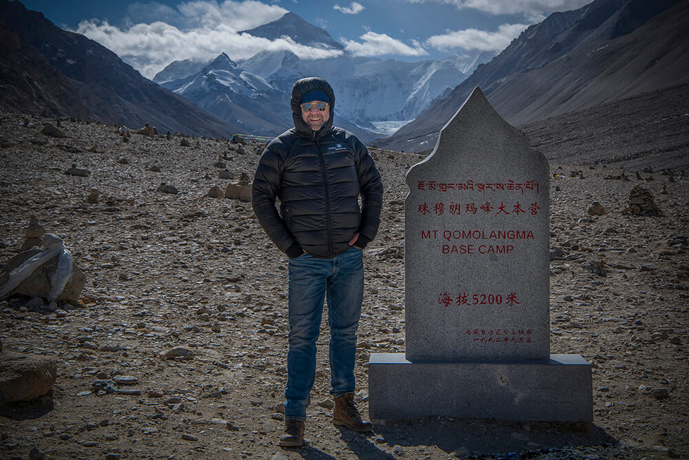 Better Moments Founder and CEO at Mount Everest Base Camp, China