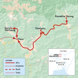 Better Moments - Map_Bhutan-workshop Photography workshop