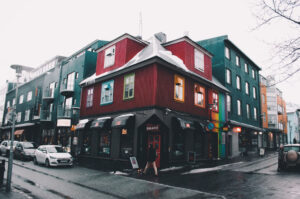 Colourful houses in Iceland's capital Reykjavik