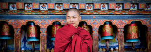 Portrait of a smiling Bhutanese monk