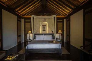 Interior of a private suite at El Nido Resort.
