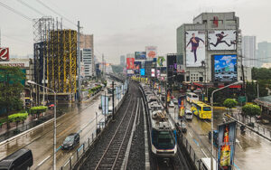 Manila's lightrail system will take you around town.