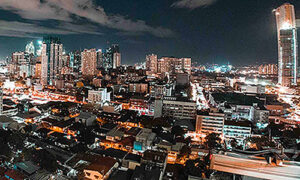 Manila's cityscape by night is a fantastic sight.