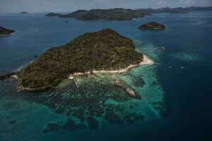 Flower Island resort will be our base for photographing the pearl hunters.