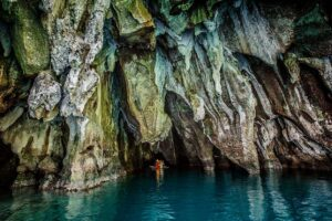 An underground river is part of the UNESCO cave in St Paul's National Park, Palawan.