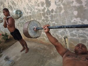 Weight lifters in Bangkok, Thailand