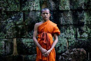 Better Moments Indochina - monk at Angkor Wat