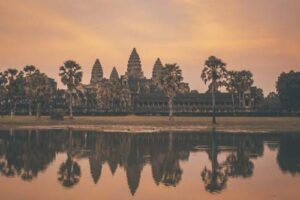 Sunrise over Angkor Wat's ruins
