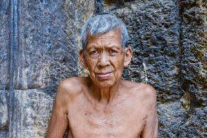 Elderly man in Siem Reap, cambodia