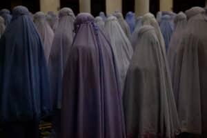 Group of fully veiled women