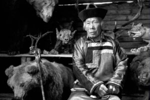 Old Mongolian with trophies
