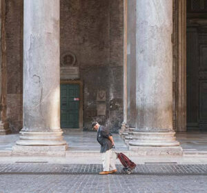 Old man in the streets of Rome