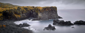 Long exposure of the coast at Hellnar, Iceland