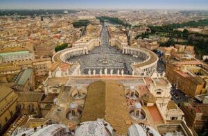 View from St Peters cathedral in Rome