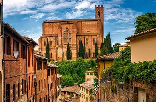 View of Siena's old town