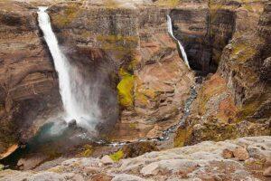 Iceland - Haifoss waterfall